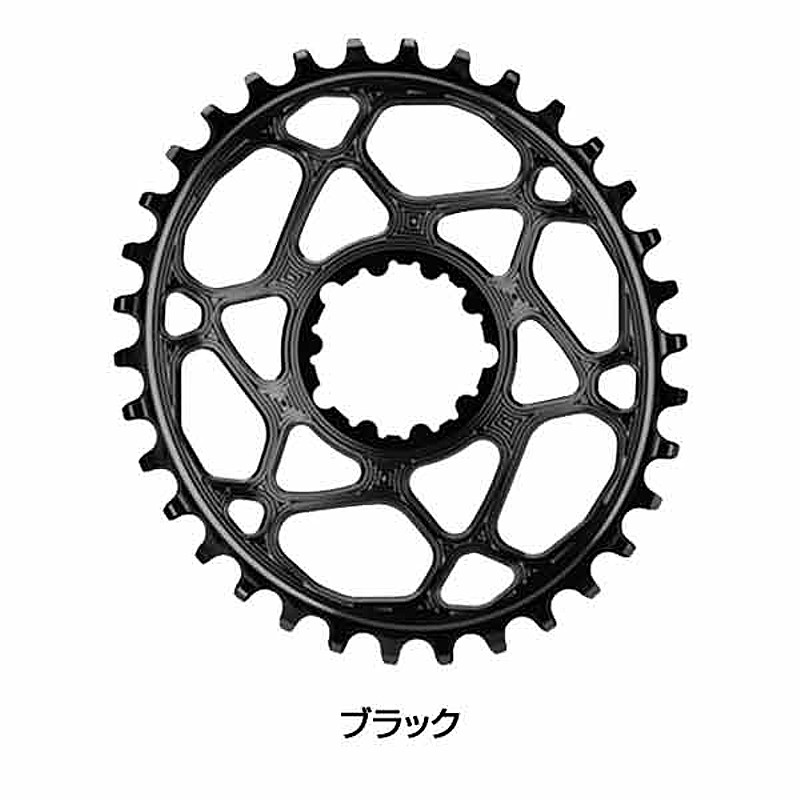 Absolute Black(アブソリュートブラック) SRAM OVAL BOOST148 CHAINRING (3MM OFFSET) 34T[コンポーネントセット・その他][ロードバイク用]