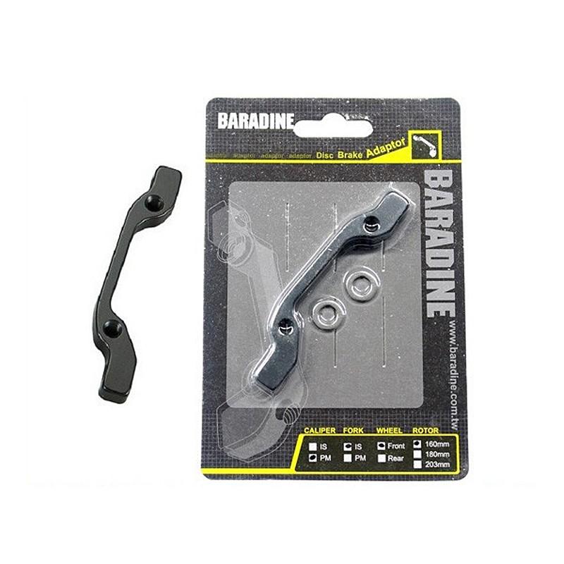 Barradine 203mm Front Disc Brake Adaptor Black
