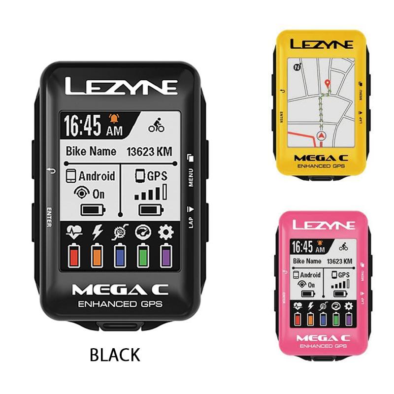 《即納》【あす楽】【記念カラー登場!】LEZYNE(レザイン) MEGA COLOR GPS (メガカラー GPS)[マップ/ナビ付き][GPS/ナビ/マップ]