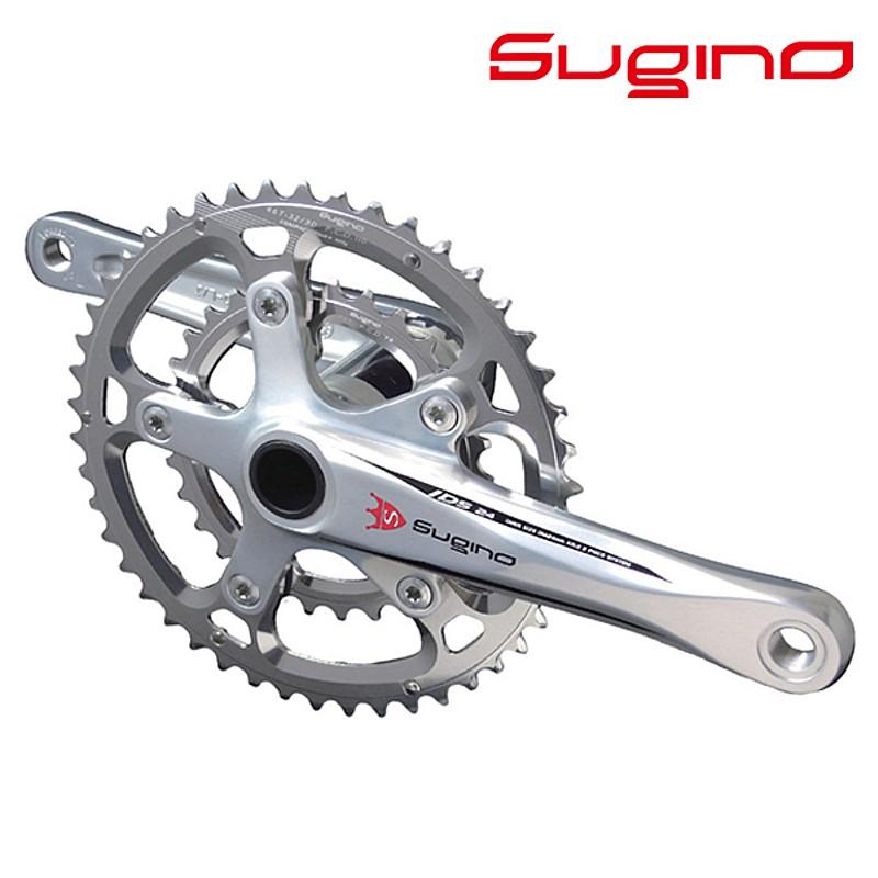 SUGINO(スギノ) OX2-901D Compact+ Classic (クラシックロゴ) シルバー BB別売/シマノ10-11S[クランクセット][クランク・チェーンホイール]