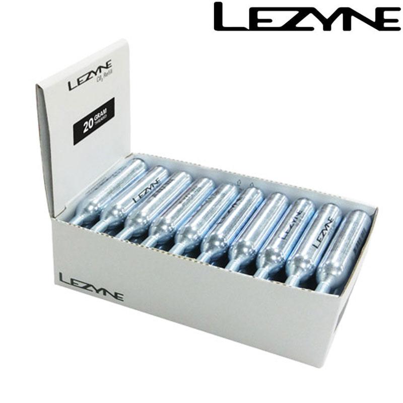 LEZYNE(レザイン) CO2 CARTRIDGE 20G 30PCS(CO2カートリッジ20G 30PCS) [空気入れ] [CO2ボンベ] [ロードバイク] [クロスバイク]