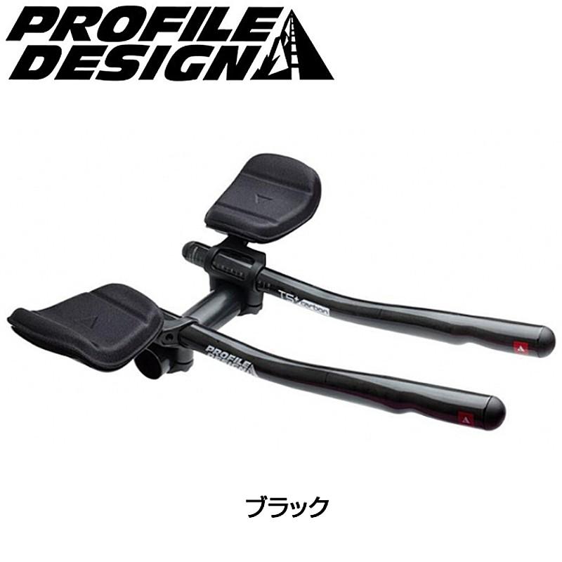 PROFILE DESIGN(プロファイルデザイン) T5+ カーボンブラック クランプ径:31.8mm(26.0w/シム)(2017)[クリップオンバー][エアロハンドルバー]