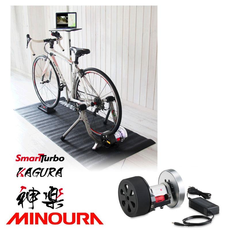 MINOURA(ミノウラ、箕浦) SMART TURBO KAGURA 負荷ユニットのみ タイヤドライブ式[タイヤドライブ式][固定式ローラー台]