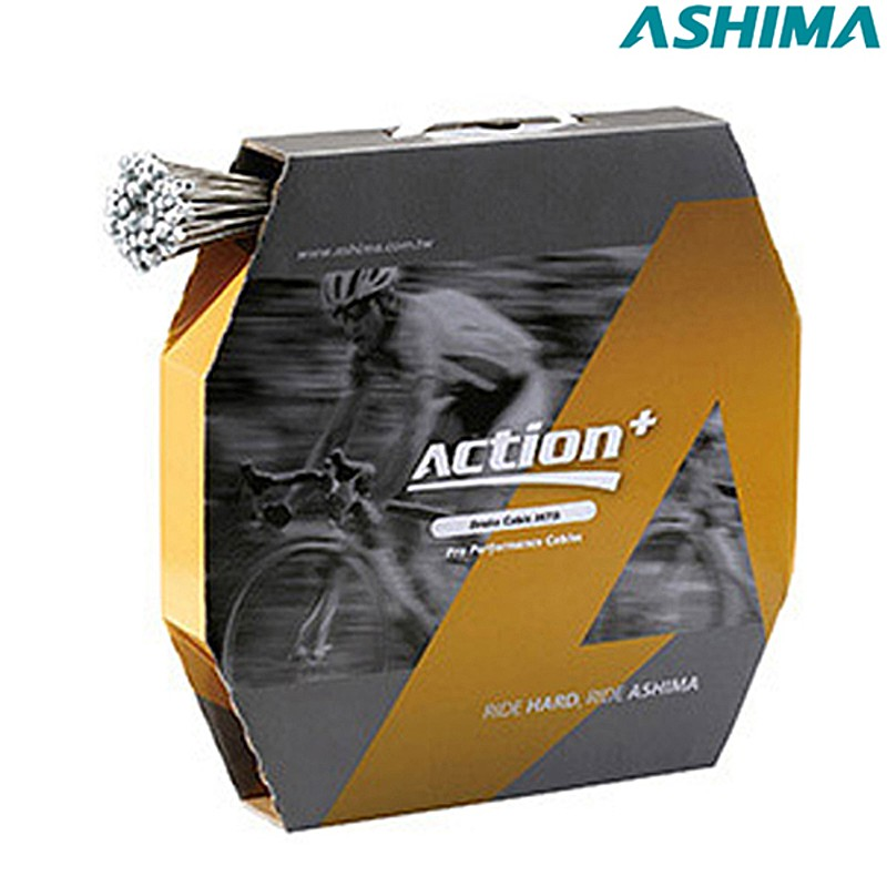ASHIMA(アシマ) アクション+ブレーキ インナーケーブル MTB用[ブレーキワイヤー・ホース][消耗品・ワイヤー類]