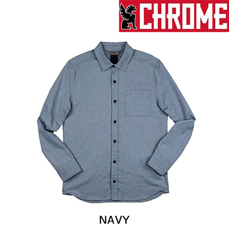 CHROME(クローム) STRETCH CHAMBRAY1 PKT SHIRT (ストレッチシャンブレイワンポケットシャツ)[トップス][秋冬]