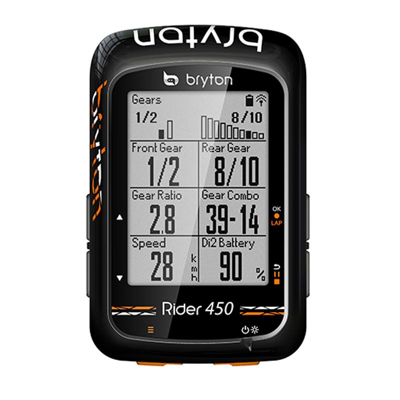 《即納》【土日祝もあす楽】bryton(ブライトン) Rider450T(ライダー450)トリプルセンサーキット(スマートスピードセンサー・スマートケイデンスセンサー・スマートハートレートセンサー同梱)[マップ/ナビ付き][GPS/ナビ/マップ]
