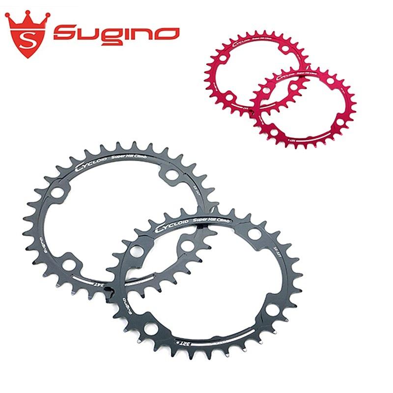 《即納》SUGINO(スギノ) CYCLOID SHC(サイクロイド スーパーヒルクライム)CY4-SHC ヒルクライム用チェーンリング [ピストバイク] [パーツ] [チェーンリング]