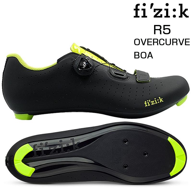 《即納》fizi:k(フィジーク) R5 OVERCURVE (R5オーバーカーブ) ブラック/イェロー SPD-SLビンディングシューズ[ロードバイク用][サイクルシューズ]
