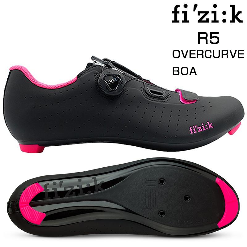 fizi:k(フィジーク) R5 OVERCURVE (R5オーバーカーブ) ブラック/ピンク SPD-SLビンディングシューズ[ロードバイク用][サイクルシューズ]