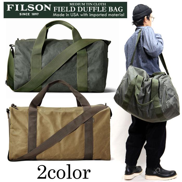 FILSON ミディアムフィールドダッフルバッグ MEDIUM TIN CLOTH FIELD DUFFLE BAG ボストンバッグ 鞄 11070015