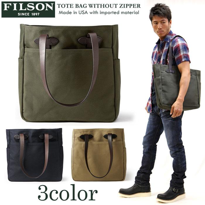 FILSON(フィルソン) ZIPPER トートバッグ TOTE BAG WITHOUT ZIPPER 鞄 WITHOUT BAG 11070260, マンモス:7a659c5a --- ferraridentalclinic.com.lb