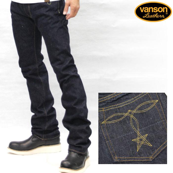 VANSON バンソン 15ozセルビッチ白耳デニムパンツ nvbl-507w