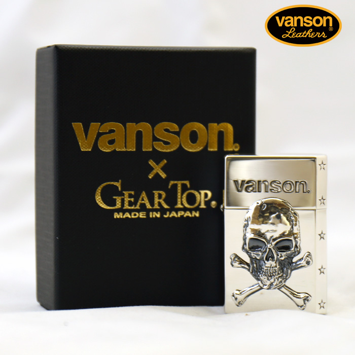 VANSON×GEAR TOP バンソン クロスボーンスカル 髑髏 v-gt-03