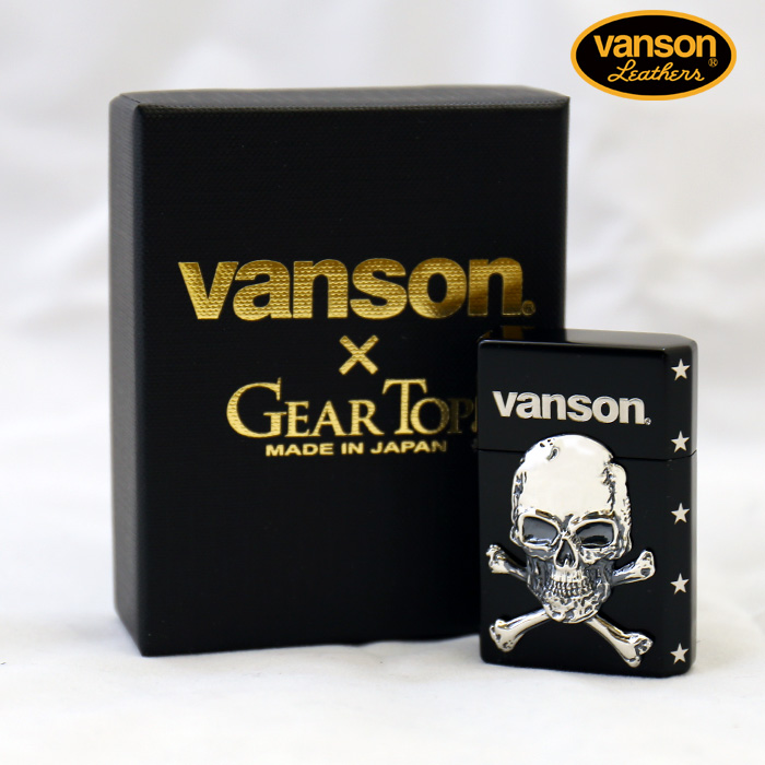 VANSON×GEAR TOP バンソン クロスボーンスカル 髑髏 v-gt-04
