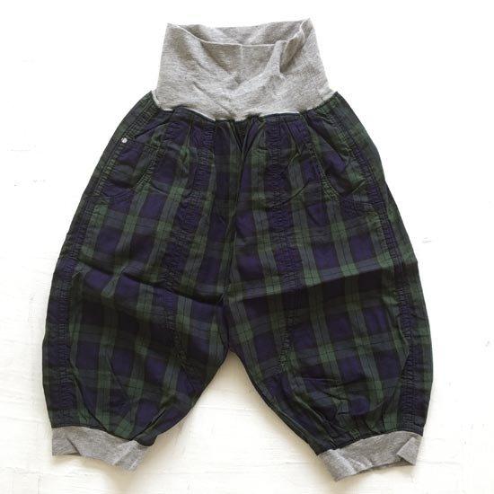 半額セール BNT 日本製 日本製子供服 子供服 価格 交渉 送料無料 90cm-130cm セール価格 BNT子供服 グリーン 格子サルエルパンツ