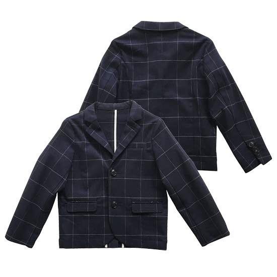 30%OFFセール(日本製)子供服 イーストエンドハイランダーズ ウインドペンテーラードジャケットスーツ(上下組)(ネイビー) 100cm/110cm/120cm 日本製 入学式 男の子(3155-1187-1)