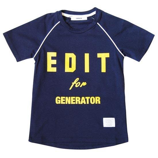 セール ジェネレーター 子供服 generator 本日限定 Tシャツ 50%OFF PT-TシャツプリントTシャツ 初回限定 EDIT 140cm 100cm 130cm 110cm ダークネイビー 120cm 日本製