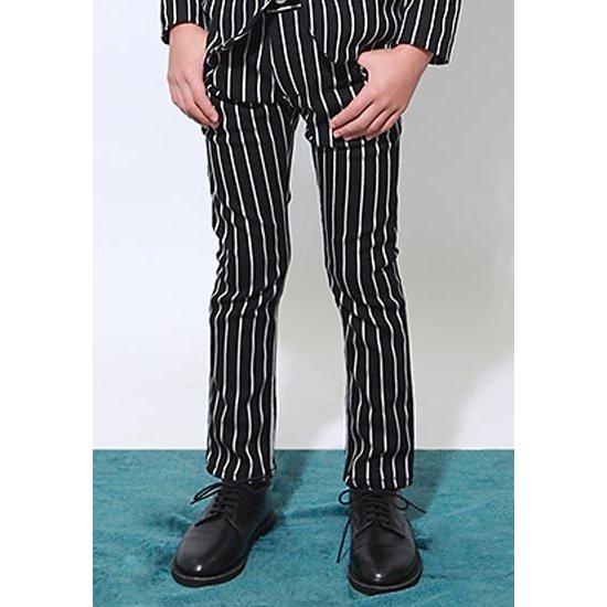 ジェネレーター スーツ 新作販売 子供服 入学式 男の子 20%OFF generator フォーマル 110-140cm 062202 ブラックストライプパンツ 激安☆超特価