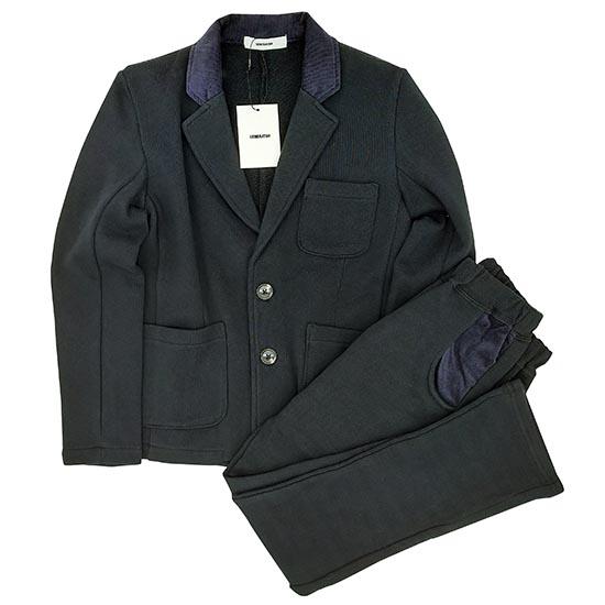 予約販売 ジェネレーター スーツ 子供服 入学式 男の子 男児 男の子スーツ フォーマルスーツジェネレーター キッズスーツ 130cm 20%OFF 110cm 120cm 130 ブラック 低価格 襟コーデュロイスーツ 上下セット
