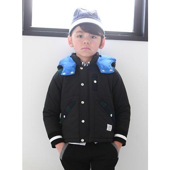 (40%OFF セール)ジェネレーター子供服 generator フード中綿ジャケット(ブラック) (150cm/160cm)(アウター)