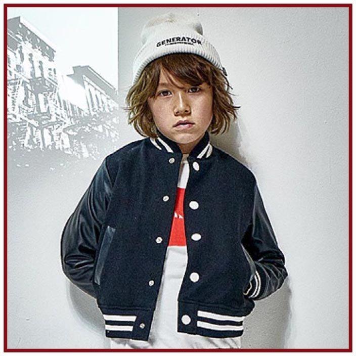 (40%OFF セール)ジェネレーター子供服 generator アワードジャケット(ブラック)(150cm/160cm)
