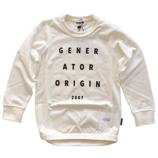 日本製 子供服ジェネレーター 子供服generator プリントロングTシャツ 人気商品 ORIGIN2007 50%OFF 160cm 150cm ホワイト 奉呈