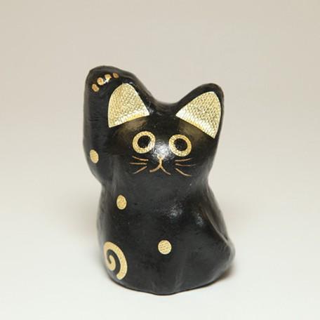 日本製 和紙クラフト ひだまりののら ねこ チビ招きゴールド B G 手すき和紙 ハンドメイド 和雑貨 ねこ雑貨 開運 金運 インテリア 縁起 お買得 置物 まねきねこ 招き猫 猫雑貨 人形 猫 奉呈