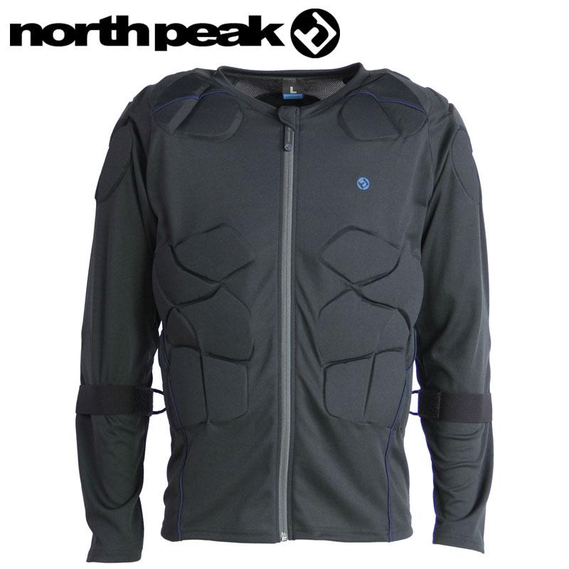 NORTHPEAK ノースピーク NP-1145 メンズ ボディープロテクター プロテクター 男性用 ジャケット 上着 上 長袖 スノーボード スキー 雪山 ウェアー インナー 3層パッド パッド プロテクション サポーター 防具 伸縮性 通気性 衝撃吸収性