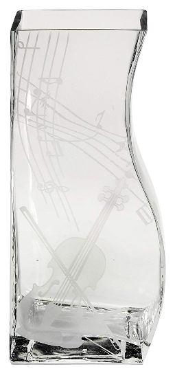 ミュージック サンドブラストガラス花器 ペアベース25ヴァイオリン 44S030 <ギフト プレゼント 誕生日 父の日 敬老の日 母の日 退職祝い 新築祝い>