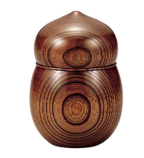 山中漆器 欅 茶入 ひょうたん(容量80g)