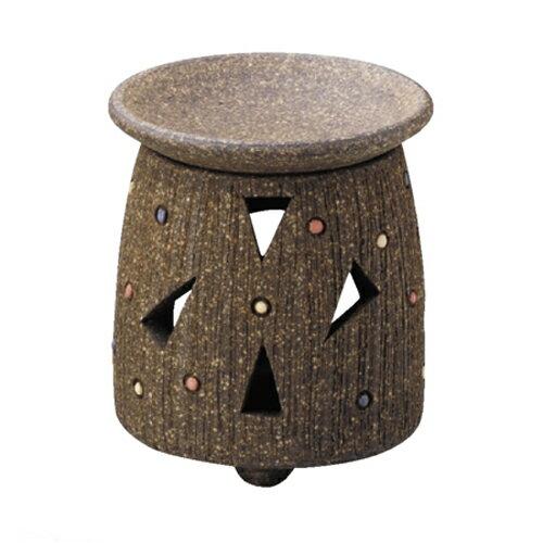 常滑焼 茶香炉 萬翠窯 焼〆三角柄