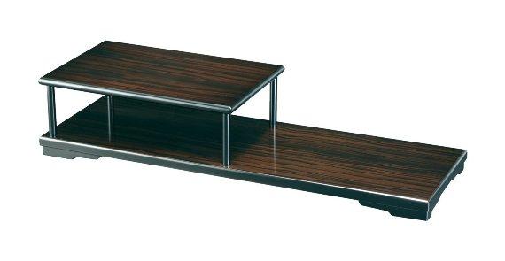 紀州のぬりもの 飾り棚 1段 黒檀調 アンティーク インテリア 家具 和風 コーナー おしゃれ 日本製