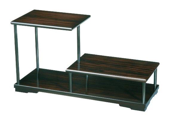 紀州のぬりもの 飾り棚 2段 黒檀調 アンティーク インテリア 家具 和風 コーナー おしゃれ 日本製