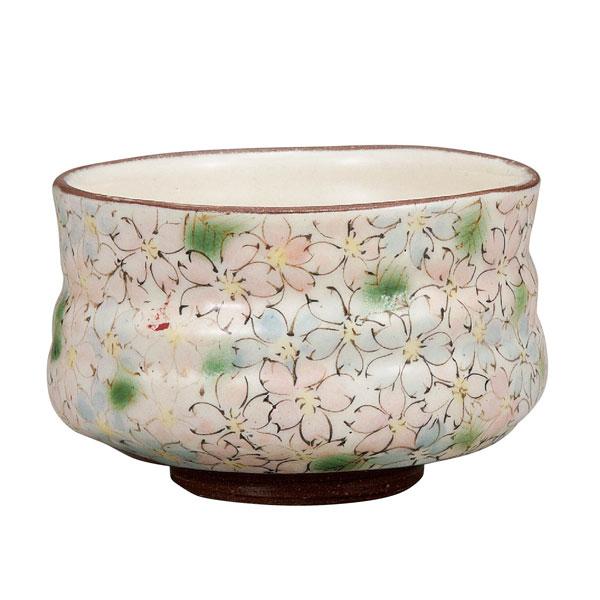 【九谷焼】 抹茶碗 桜詰 〈東孝子〉<九谷焼 和食器 鉢 小鉢 人気 ギフト セット 贈り物 結婚祝い/内祝い/お返し>