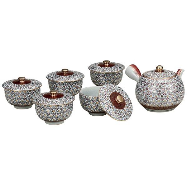 【九谷焼】 蓋付茶器 梅詰<九谷焼 和食器 鉢 小鉢 人気 ギフト セット 贈り物 結婚祝い/内祝い/お返し>