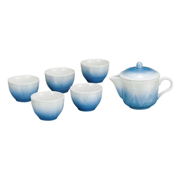 【九谷焼】 茶器 銀彩 青<九谷焼 和食器 鉢 小鉢 人気 ギフト セット 贈り物 結婚祝い/内祝い/お返し>