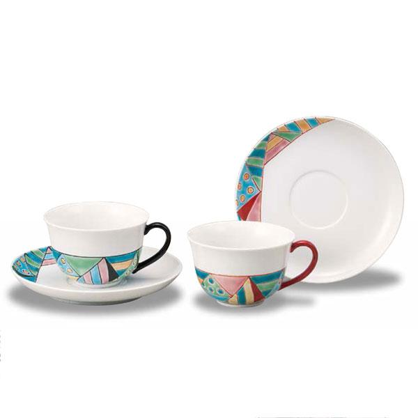 【九谷焼】ペアコーヒー ステンドグラス 勝部明美<九谷焼 和食器 鉢 小鉢 人気 ギフト セット 贈り物 結婚祝い/内祝い/お返し>