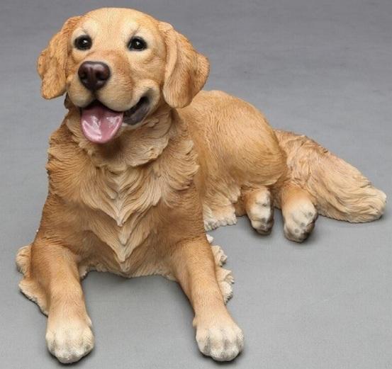 室内はもちろん、ガーデニングに最適です。レジン アニマルコレクション 愛らしい犬の置物 オブジェ レトリバー