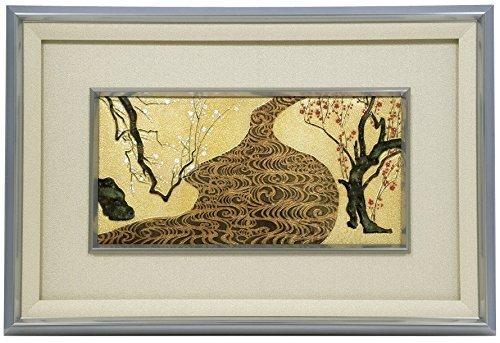 伝統工芸 七宝焼 額 紅白梅図  102-09 【原画:尾形 光琳】