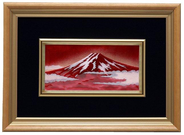 伝統工芸 七宝焼 額 Picture 新赤富士 113-05