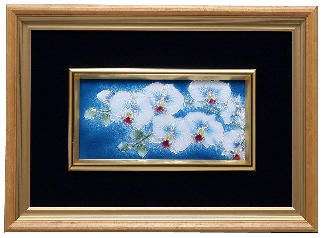 伝統工芸 七宝焼 額 Picture 胡蝶蘭 113-06