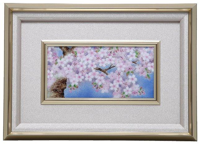 伝統工芸 七宝焼 額 Picture 桜  113-08