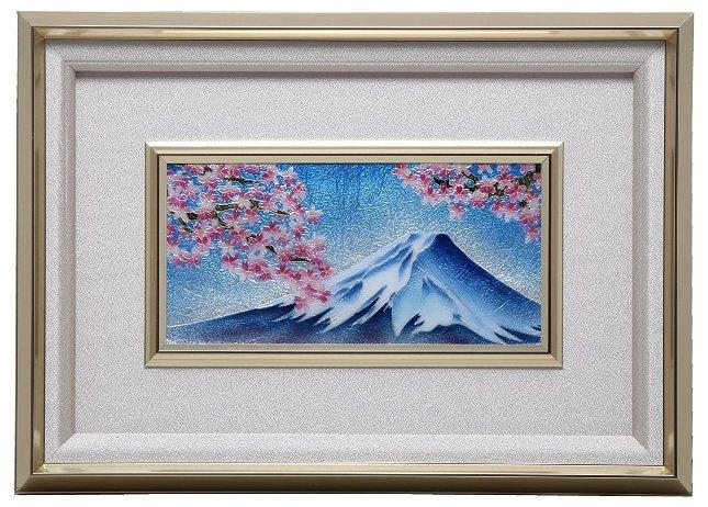 伝統工芸 七宝焼 額 Picture 冨士桜 113-09