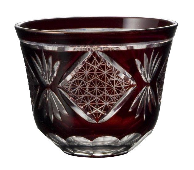 浪漫玻璃  5客セット 切子グラス ロイヤルオリエント 冷茶&珍味(RD) 5客セット<ギフト プレゼント 父の日 母の日 誕生日 お祝い 普段使い>