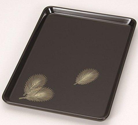 漆遊館 歳時記 【G4333-09】 若松 9寸進物盆 化粧箱 27.3×19×1.9cm
