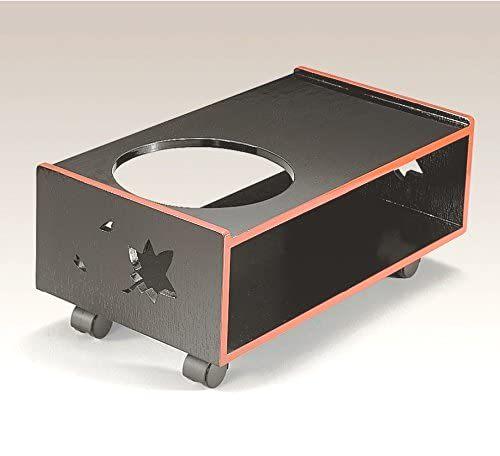 越前漆器 漆遊館 歳時記 【G4249-06】 黒木目 ポットワゴン ボール箱 53×30×22.4cm