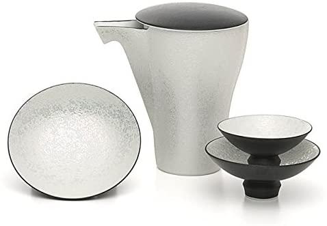 【有田焼】日本酒を美味しく飲む器!匠の蔵 至福の徳利&盃セット ブラックパール