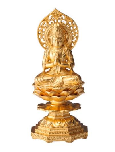 金箔仕様高さ約15cm 勢至菩薩(うま年生まれのお守り本尊)