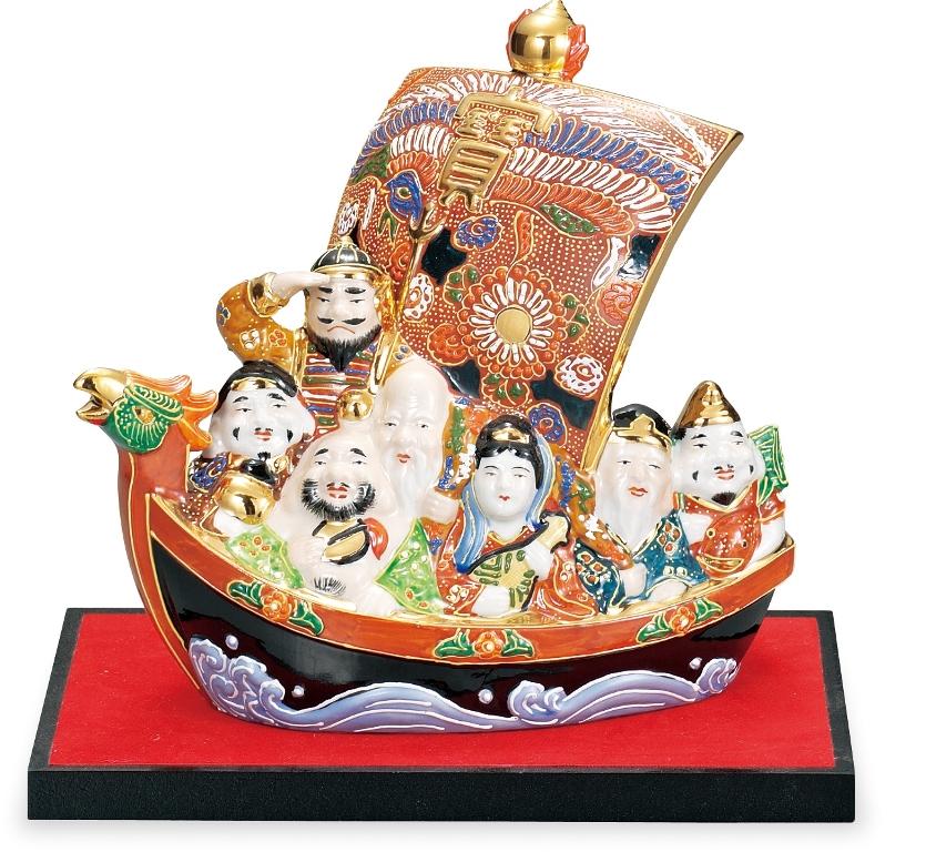 縁起物 七福神宝船 盛【AP3-1465】<九谷焼 和食器 人気 ギフト セット 贈り物 結婚祝い/内祝い/お返し/敬老の日/父の日/母の日>