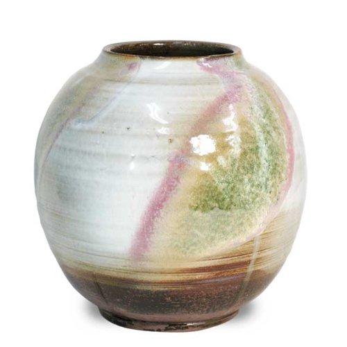 清玩 三彩 花瓶 【花瓶・花器 萩焼】